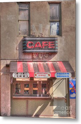 Three Forks Cafe Metal Print by David Bearden