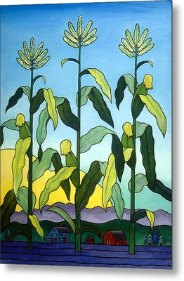 Three In A Row Metal Print by Stacey Neumiller