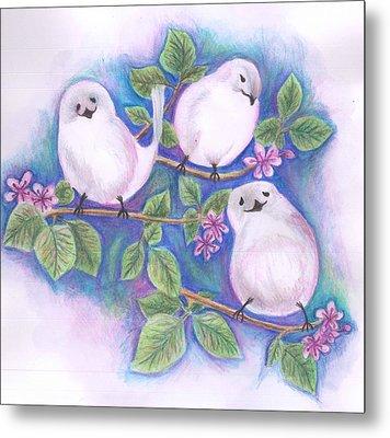 Three Little Birds Metal Print by Cherie Sexsmith