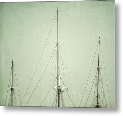 Three Masts Metal Print by Lisa Russo