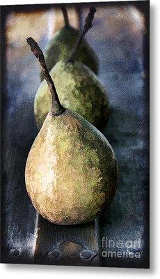 Three Pears Metal Print by Darren Fisher
