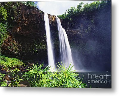 Three Waterfalls Metal Print by Peter French - Printscapes