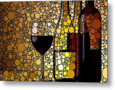 Three Wines Metal Print by Cindy Edwards