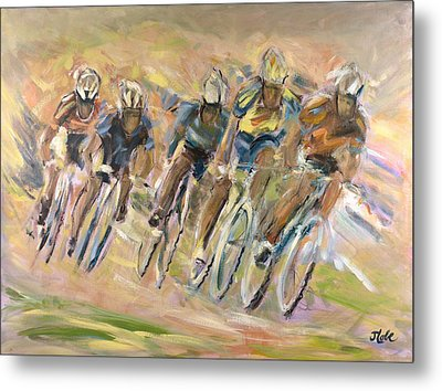 Thrill Of The Chase Metal Print by Jude Lobe