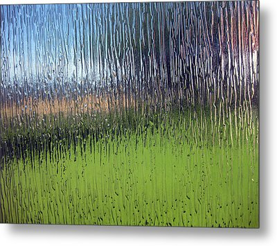 Through The Glass Metal Print by Sarah Hornsby