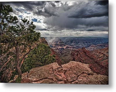 Thunderstorm - Grand Canyon Metal Print by Andreas Freund