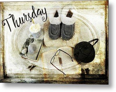 Thursday Shoes Metal Print by Randi Grace Nilsberg