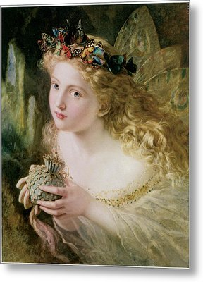 Thus Your Fairy's Made Of Most Beautiful Things Metal Print by Sophie Anderson