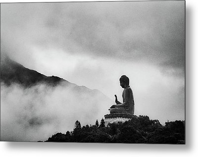 Tian Tan Buddha Metal Print by picture by Chris Kench Photography