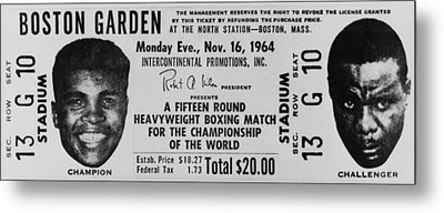Ticket To World Championship Boxing Metal Print by Everett