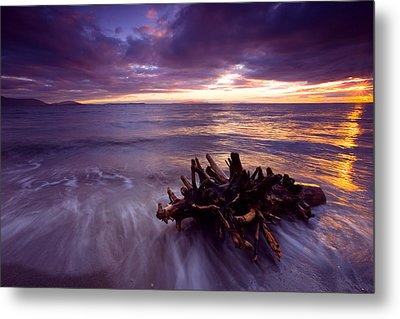 Tide Driven Metal Print by Mike  Dawson
