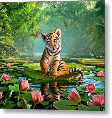 Tiger Lily Metal Print by Jerry LoFaro