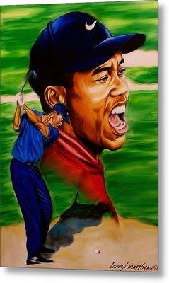 Tiger Woods. Metal Print by Darryl Matthews