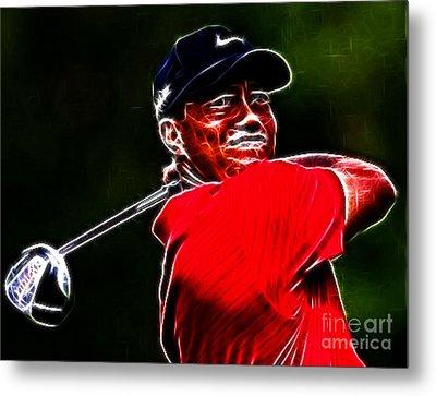 Tiger Woods Metal Print by Paul Ward
