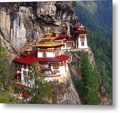 Tigers Nest Bhutan Metal Print by Jim Kuhlmann