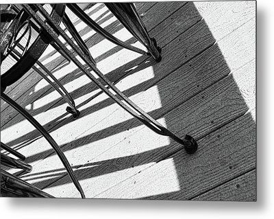 Tilt Two Black And White Photograph Metal Print by Ann Powell