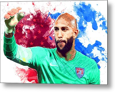 Tim Howard Metal Print by Semih Yurdabak