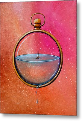 Time And Space Metal Print by Cindy Thornton