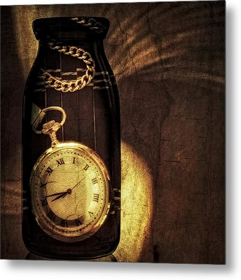 Time In A Bottle Metal Print by Susan Candelario