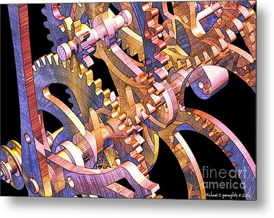 Time Mechanics V1 Metal Print by Michael Geraghty