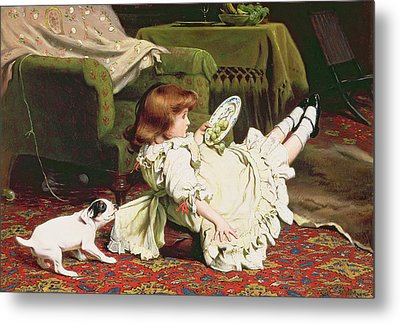 Time To Play Metal Print by Charles Burton Barber