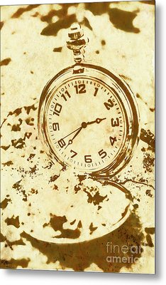 Time Worn Vintage Pocket Watch Metal Print by Jorgo Photography - Wall Art Gallery