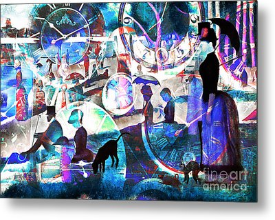 Timeless Art A Sunday On La Grande Jatte 20160229 Metal Print by Wingsdomain Art and Photography