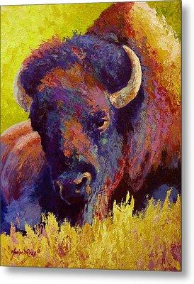 Timeless Spirit - Bison Metal Print by Marion Rose