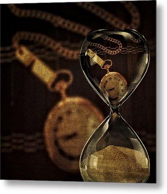 Timepieces Metal Print by Susan Candelario