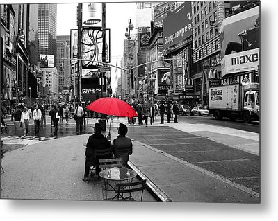 Times Square 5 Metal Print by Andrew Fare
