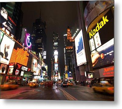 Times Square Metal Print by John Gusky