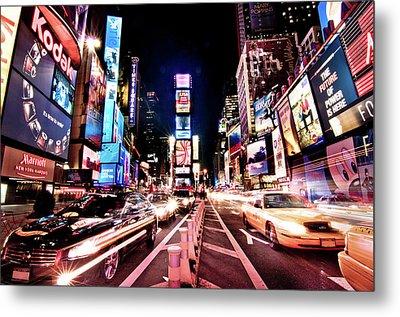 Times Square, Manhattan, New York Metal Print by Josh Liba