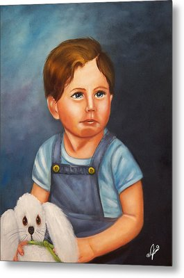 Timmy And Fluffy Metal Print by Joni McPherson