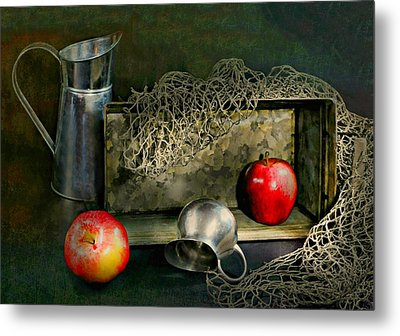 Tin Apples Metal Print by Diana Angstadt