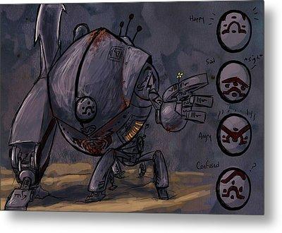 Tin Man Metal Print by Jamie Lindenmeier