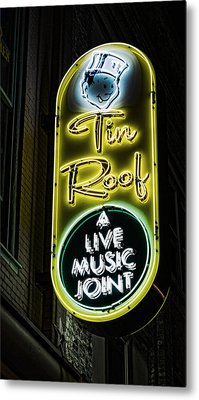 Tin Roof - Gritty Metal Print by Stephen Stookey