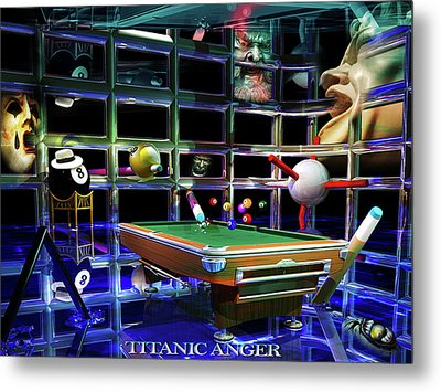 Titanic Anger Metal Print by Draw Shots