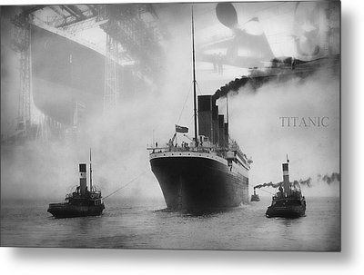 Titanic Metal Print by Chris Cardwell