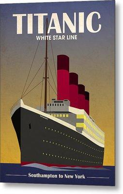 Titanic Ocean Liner Metal Print by Michael Tompsett
