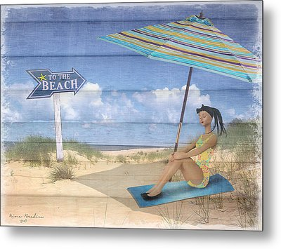 To The Beach Metal Print by Nina Bradica