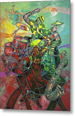 To The Beat On 2nd Street Metal Print by Larry Poncho Brown