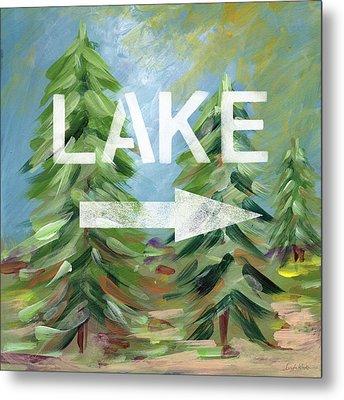 To The Lake - Art By Linda Woods Metal Print by Linda Woods