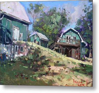 Today Morning At Carter Farms In Norval Metal Print by Ylli Haruni