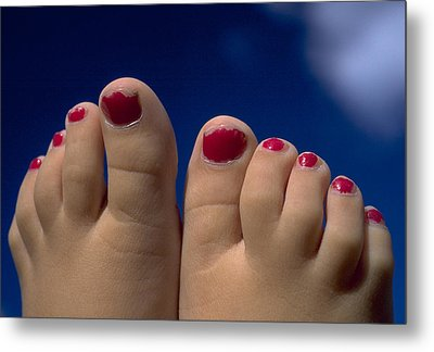 Toes Metal Print by Michael Mogensen
