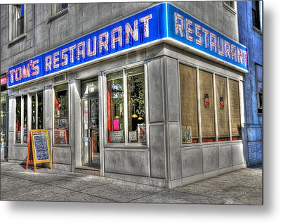 Tom's Restaurant Of Seinfeld Fame Metal Print by Randy Aveille
