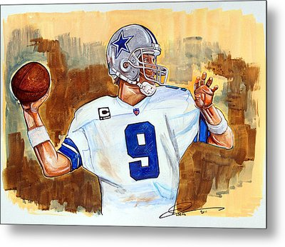 Tony Romo Metal Print by Dave Olsen