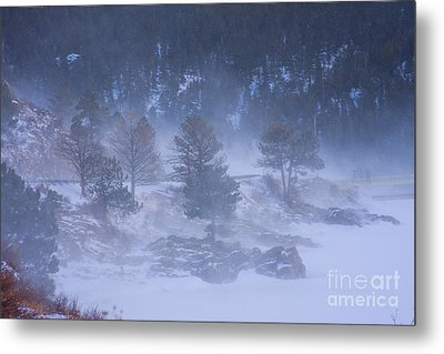 Top Of Boulder Canyon Winter Snow Metal Print by James BO  Insogna