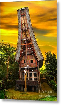 Toraja Architecture Metal Print by Charuhas Images