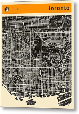 Toronto Map Metal Print by Jazzberry Blue