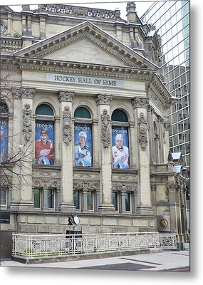 Toronto - The Hockey Hall Of Fame Metal Print by Bill Cannon